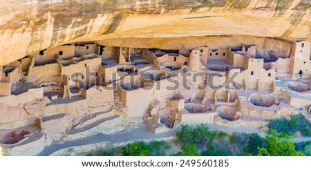 Cliff Palace in Mesa Verde National Park, Colorado. - stock photo