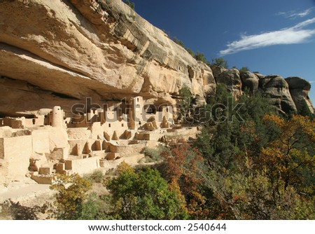 Cliff Palace, Mesa Verde - stock photo