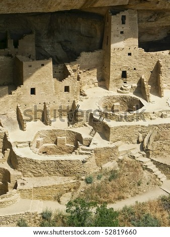 Cliff Palace, Mesa Verde, Colorado - stock photo