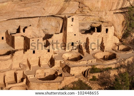 Cliff Palace, Mesa Verde National Park, CO - stock photo