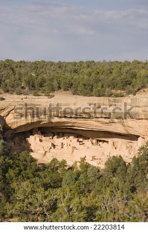 Cliff Palace, Mesa Verde National Park in Colorado, USA - stock photo