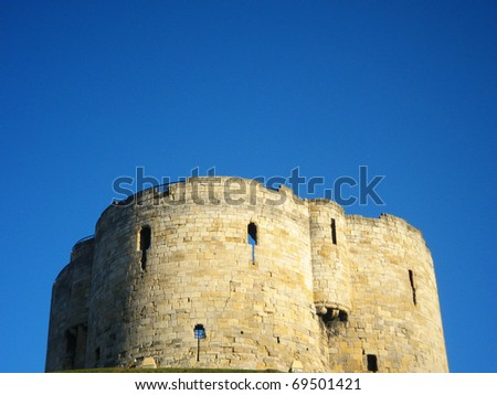 Cliffords tower, York, England.