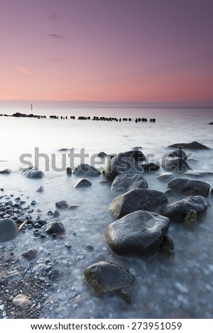 Cliffs and coastline in the national park jasmyn of Rugen Island - stock photo
