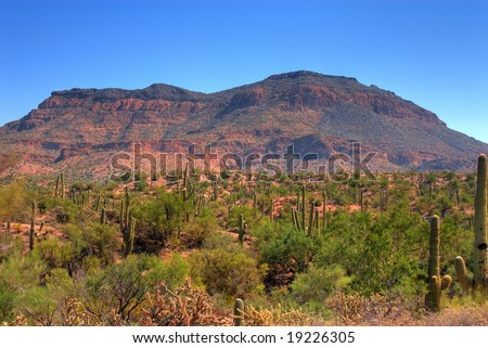 Cliffs and rock formations in arizona mountains - stock photo