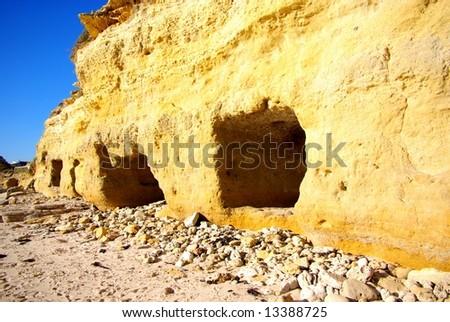 Cliffs & Caves at Port Willunga (Adelaide, Australia) - stock photo