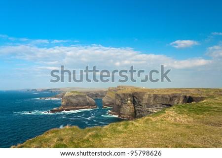 Cliffs in Kilkee, Ireland - stock photo