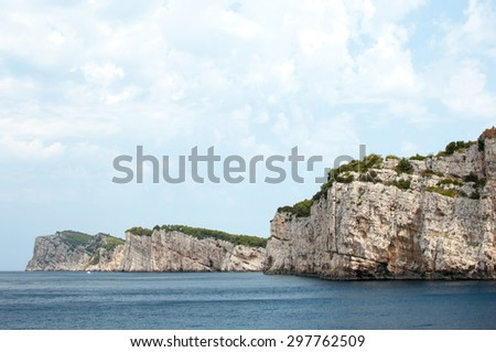 Cliffs in Telascica Nature park, Croatia. - stock photo