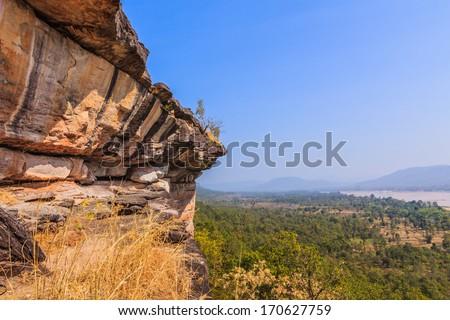 Cliffs in Ubon Ratchathani, Thailand (Cliffside Park scored). - stock photo