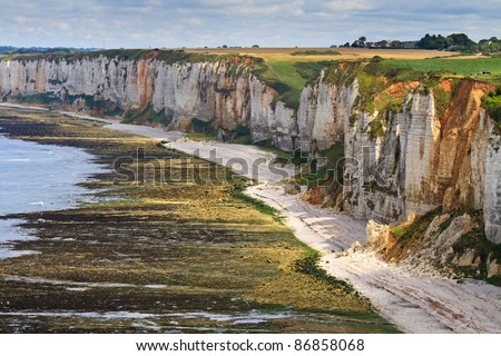 Cliffs near Etretat and Fecamp, Normandy, France