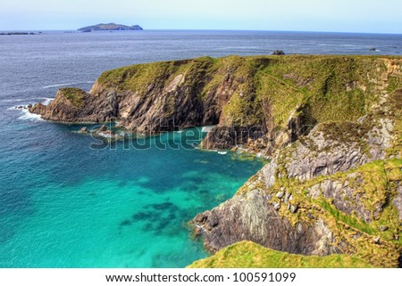 Cliffs of Dingle in Ireland. - stock photo