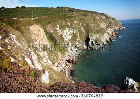 Cliffs of Howth peninsula, Dublin , Ireland - stock photo