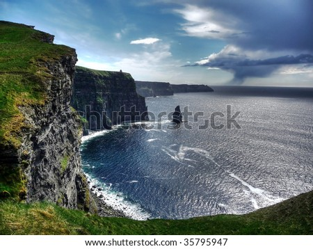 Cliffs of Moher - stock photo