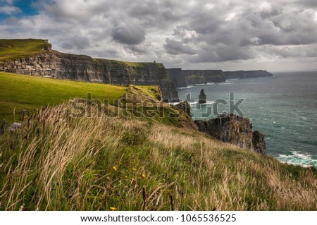 Ireland countryside stock images royalty free images vectors cliffs of moher in county clare ireland irelands 2nd most famous tourism attraction in publicscrutiny Images