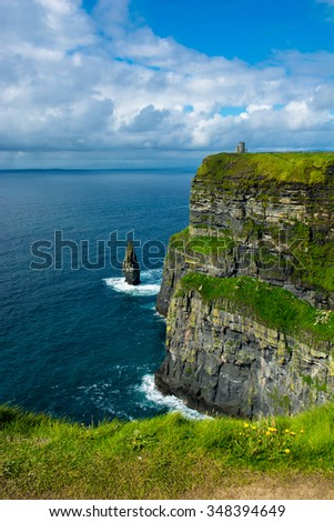 Cliffs Of Moher In Ireland - stock photo