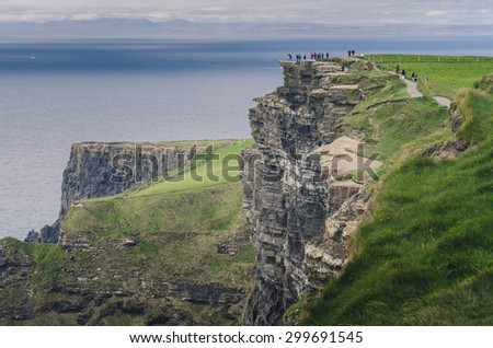 Cliffs of Moher, Ireland - stock photo