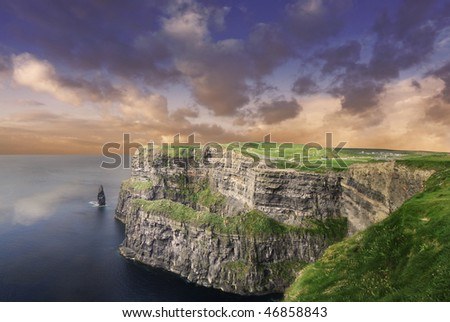 Cliffs of Moher - Ireland - stock photo