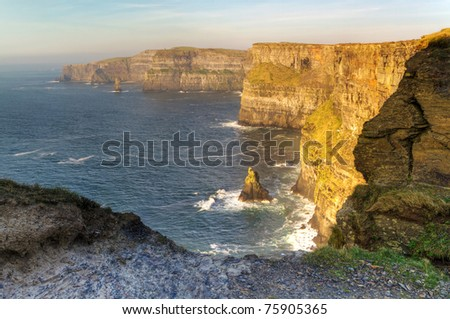 Cliffs of Moher - Ireland - HDR - stock photo