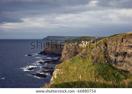 Cliffs Of Moher Ireland Panoramic view of Cliffs Of Moher in Ireland - stock photo