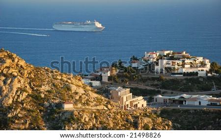 Cliffside Villa View - stock photo