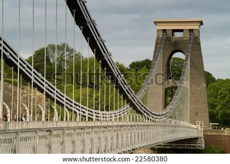Clifton Bridge over the river Avon, Bristol, UK - stock photo