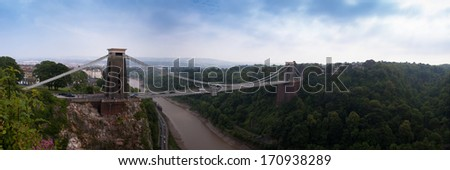 Clifton Bridge Panorama - stock photo