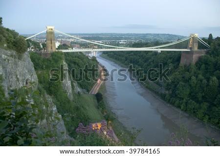 Clifton Suspension Bridge, Bristol - stock photo