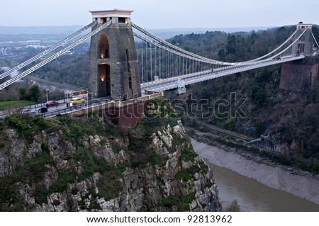 Clifton Suspension Bridge, Bristol. Designed by Isombard Kingdom Brunel - stock photo