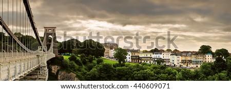 Clifton Suspension Bridge, Bristol, England. - stock photo