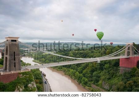 Clifton Suspension Bridge, Bristol,England - stock photo