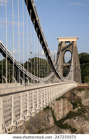 Clifton Suspension Bridge by Brunel, Bristol, England, UK - stock photo