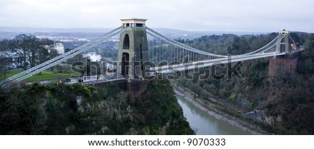 Clifton Suspension Bridge in Bristol - stock photo