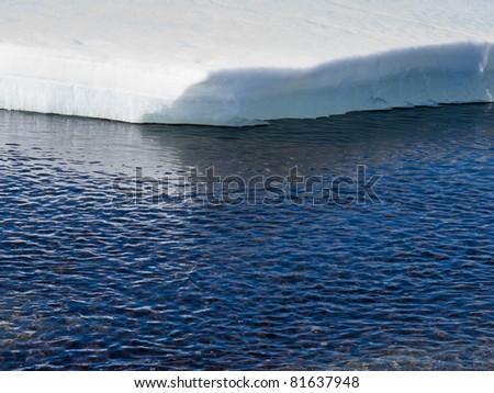 Climate change concept: Edge of thawing arctic sea-ice. - stock photo