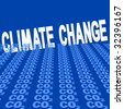 Climate change text with CO2 foreground illustration JPEG - stock vector