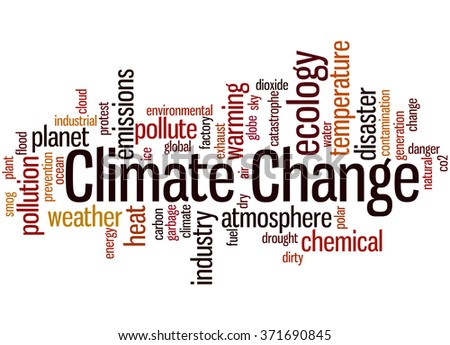 Climate change, word cloud concept on white background.  - stock photo