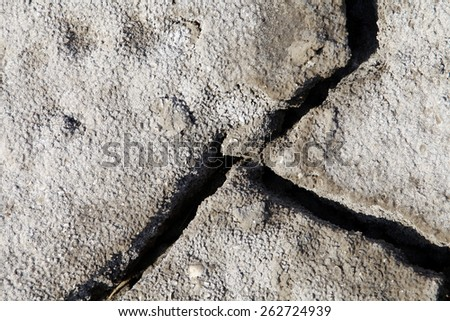 Climate warming dry chapped land  - stock photo