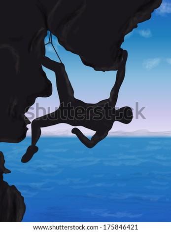 Climb - stock photo