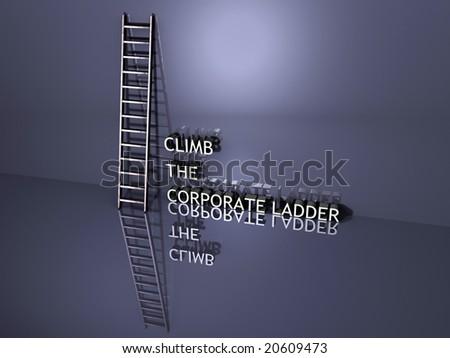 Climb the Corporate Ladder - stock photo