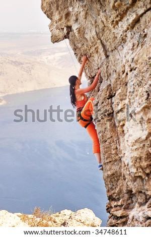 climber-girl - stock photo