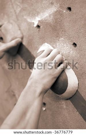 Climber's Hand - stock photo