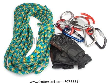climber set on white background - stock photo