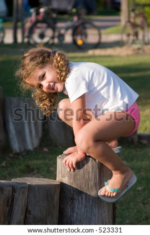 climbing and smiling - stock photo