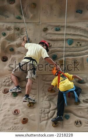 Climbing Coach - stock photo