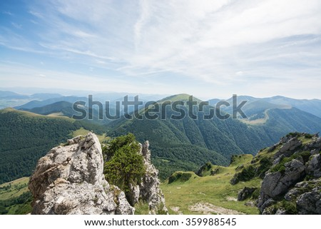 Climbing in Slovak mountains - Velky Rozsutec