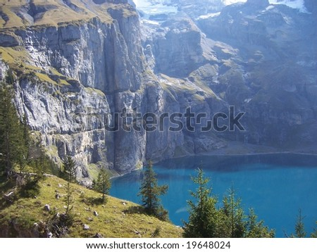 climbing in the mountains - stock photo