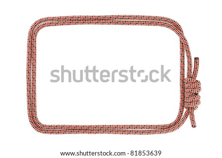 Climbing rope frame isolated on white