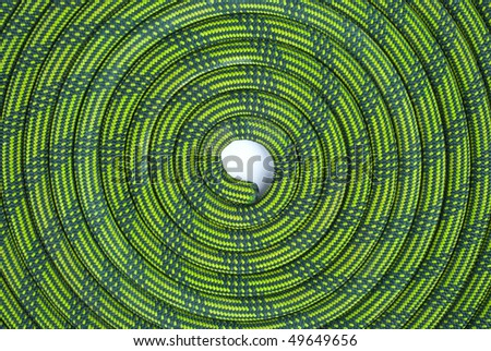 Climbing  Rope in spiral - stock photo