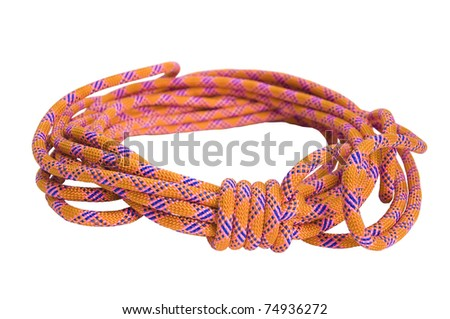climbing rope isolated on a white background