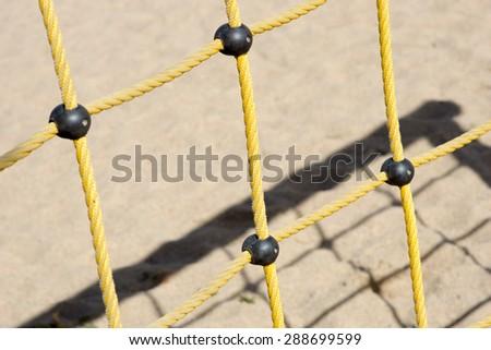 Climbing scaffold in a playground / Climbing scaffold - stock photo
