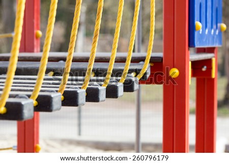 Climbing scaffold in a playground / Playground - stock photo
