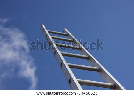 Climbing the property ladder clear blue sky - stock photo